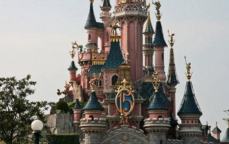 Дисней-парк в Париже. Замок спящей красавицы.