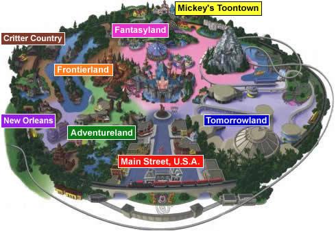 Дисней-парк в США. Карта парка
