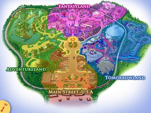 Дисней-парк в Китае. Карта парка развлечений