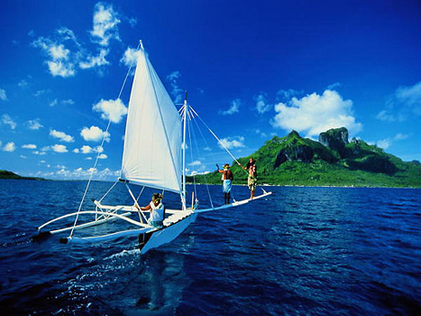 Французская полинезия. Прогулка на яхте - романтика в действии