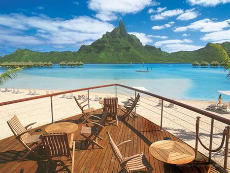 Французская полинезия. Вид из отеля. Великолепно. Правда?